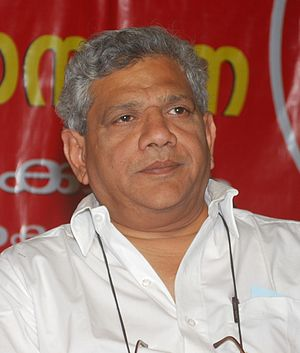 Sitaram Yechury - Sitaram Yechury in Kollam, Kerala during 2011 Assembly election