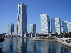 Minato Mirai 21, with Landmark Tower second from the left