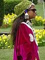 Young Girl in Traditional Kashmiri Dress - Nishat Bagh Garden - Srinagar - Jammu & Kashmir - India (26775514851).jpg