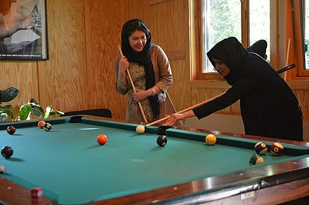 A player with her bridge hand close to the centre pocket Youth-centre-girl-billiards-wallpaper-preview.jpg
