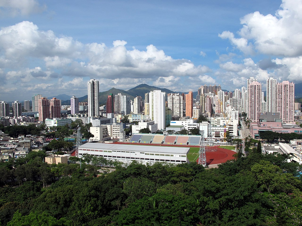 Day view of the Yuen Long District skyline