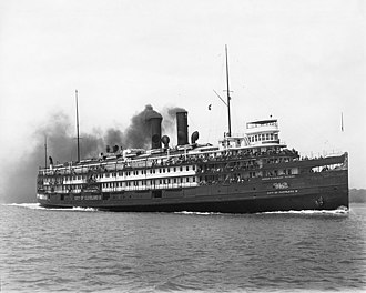 Great Lakes passenger steamers - City of Cleveland (circa 1941)