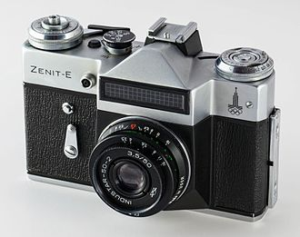 Zenit (camera) - Zenit E with Industar 50-2 50/3.5 Lens and Selenium-cell lightmeter