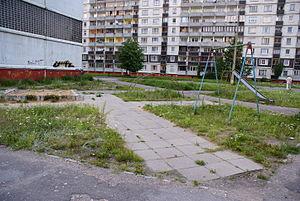 Zolitūde - Abandoned playground on Paula Lejiņa street.