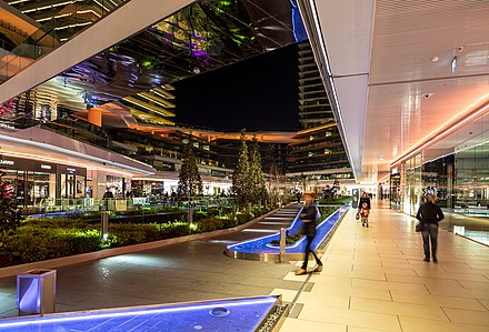 Zorlu Center shopping mall in Levent includes the Zorlu PSM, one of the largest performing arts theatres and concert halls in Istanbul, together with the Ataturk Cultural Center. Zorlu center01.jpg