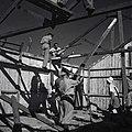 """""""מכמורת"""" - העליה למכמורת- קבוצת העובדים התחילה בהקמת הצריף הראשון.-JNF002670.jpeg"""