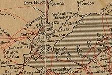 Carte Usa Canada Cote Est.Essex County Ontario Wikipedia