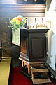 'Church of St Andrew' Greensted, Ongar, Essex England - pulpit.JPG