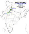 (Ajmer - Haridwar) Express Route map.jpg