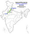 (Ajmer - Haridwar) Express Route map.jpg