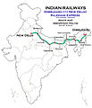 (New Delhi - Dibrugarh) Rajdhani Express (via Varanasi) Route map.jpg
