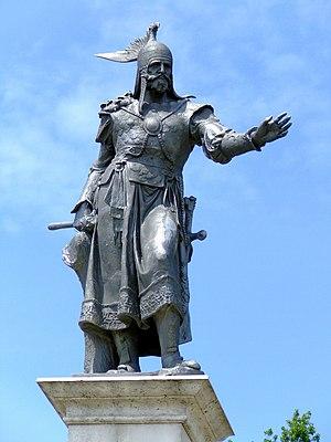 Árpád - Statue of Árpád at Ráckeve (Hungary)