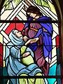 Église de Juillac, vitrail de Marie et Élisabeth enceintes, 2001.jpg