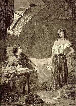 Éponine - Éponine visits Marius to give him a letter.