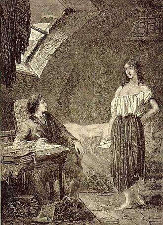 Éponine - Éponine visits Marius to give him a letter.