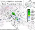 Ареал расселения марийцев в Волго-Уральском регионе. По данным Всероссийской переписи населения 2010 года..png