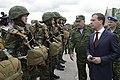 Д. А. Медведев проводит смотр личного состава 7-й дшд.jpg