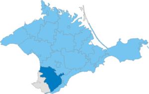 Bakhchysarai Raion - Image: Карта схема Крыма Бахчисарайский район