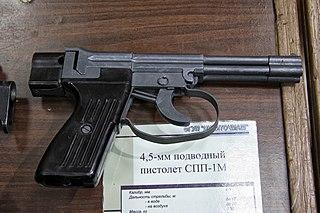 SPP-1 underwater pistol Soviet four-barreled underwater dart pistol