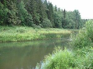 Lyubimsky District - The Obnora River near the selo of Voskresenskoye in Lyubimsky District