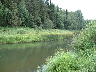 Lyubimsky District - The Obnora River near the selo of Voskresenskoye in Lyubimsky District