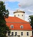 Цесис (Латвия) Башня с флагом и здание музея - panoramio.jpg