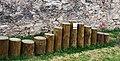 Цесис (Латвия) Полезные пеньки (на них можно посидеть^) во дворе замка - panoramio.jpg