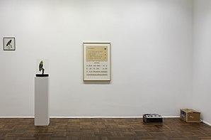 """Marcel Broodthaers - """"Dites partout que je l'ai dit"""", 1974. A décor work by Marcel Broodthaers."""