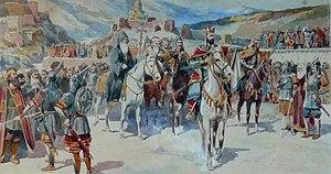 "Demetrius II of Georgia - ""Demetrius II goes to the Khan"", by Henryk Hryniewski."