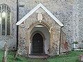 -2020-11-06 Porch on the north facing elevation, St Bartholomew's, Hanworth, Norfolk.JPG