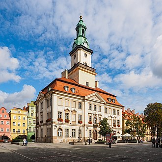 Jelenia Góra - Town Hall, built between 1744 and 1749, is located on the main square