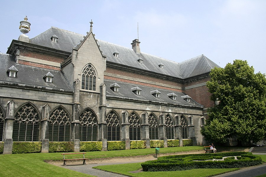 Tournai   (Belgium), part of the old St. Martin abbey cloister.