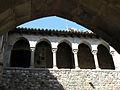 063 Castell cartoixa de Vallparadís (Terrassa), galeria superior del claustre.JPG