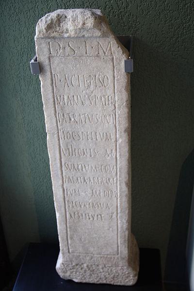 File:0707 - Museo archeologico di Milano - Base con dedica a Mitra (sec. II d.C.) - Foto di Giovanni Dall'Orto, 13-Mar-2012.jpg