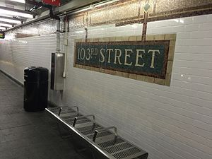 103 St SB platform post renovation.JPG