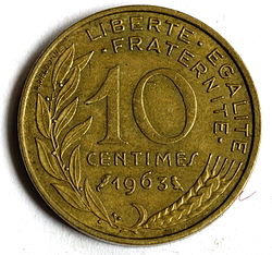definition of centime