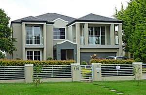 Home ownership in Australia - A modern single family Australian home in East Killara, New South Wales.
