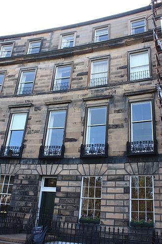 George Cranstoun, Lord Corehouse - 12 Ainslie Place, Edinburgh, Cranstoun's fashionable Edinburgh townhouse