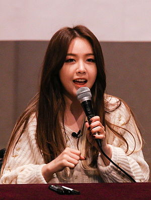 Bang Min-ah - Bang at a fansinging on March 2015