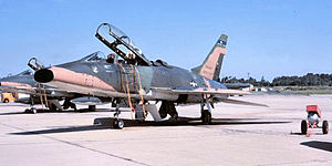 166th Air Refueling Squadron - 166th TFS F-100F-5-NA Super Sabre 56-3740