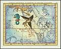 1776 - John Flamsteed - L'Aigle, Antinous, La Fleche, Le Renard, Le Dauphin (Aquila, Sagitta, Vulpecula & Anser Delphinus).jpg