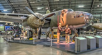Jimmy Doolittle - Exhibit at USAF Museum depicting a B-25B Mitchell in preparation for the Doolittle Raid.
