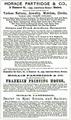 1873 HoracePartridge Boston ad CambridgeDirectory.png