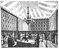 1881 Paris Electrical Exhibition telephone listening room.jpg