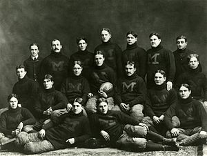 Michigan Wolverines football - The 1898 Michigan Wolverines, the first Michigan squad to win a conference title.