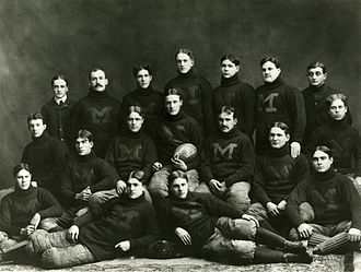 1898 Michigan Wolverines football team - Image: 1898 Michigan football team