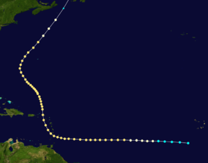 1898 Windward Islands hurricane - Image: 1898 Windward Islands hurricane track