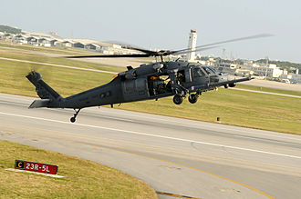18th Operations Group - 33d RQS Sikorsky HH-60G Pavehawk (91-26405) prepares to land.