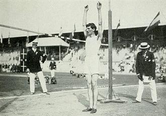 Athletics at the 1912 Summer Olympics – Men's standing high jump - Bronze medalist Konstantinos Tsiklitiras.