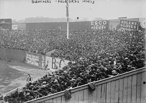 1913 World Series - Crowds in Polo Grounds before Game 3 of the World Series